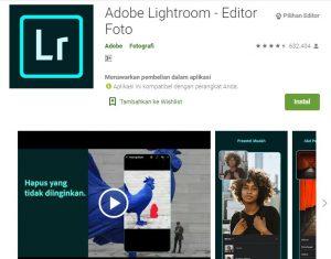 Aplikasi Adobe Lightroom