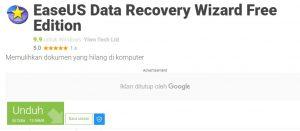 Aplikasi EaseUS Data Recovery