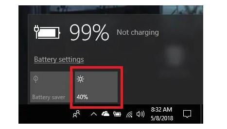 Meredupkan layar pada windows 10
