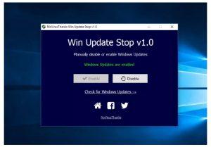 cara mematikan auto update windows 10