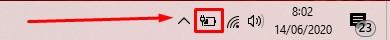klik icon baterai