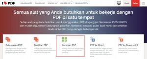 kompress pdf via ILovePDF