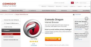 Browser PC Comodo Dragon