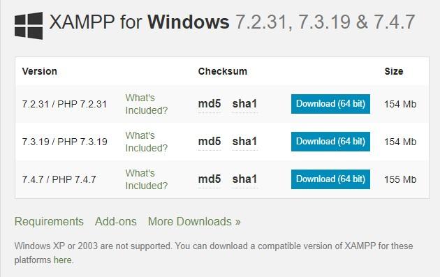Cara instal Xampp