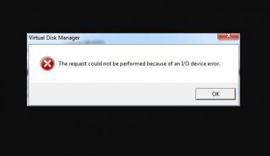 Cara mengatasi perangkat IO error