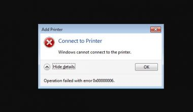 Cara mengatasi windows cannot connect to the printer