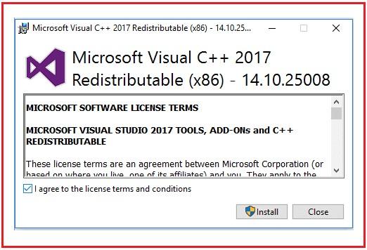 Proses Instal Visual C++