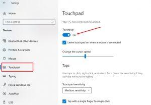 Touchpad Laptop Tidak Berfungsi Windows 10